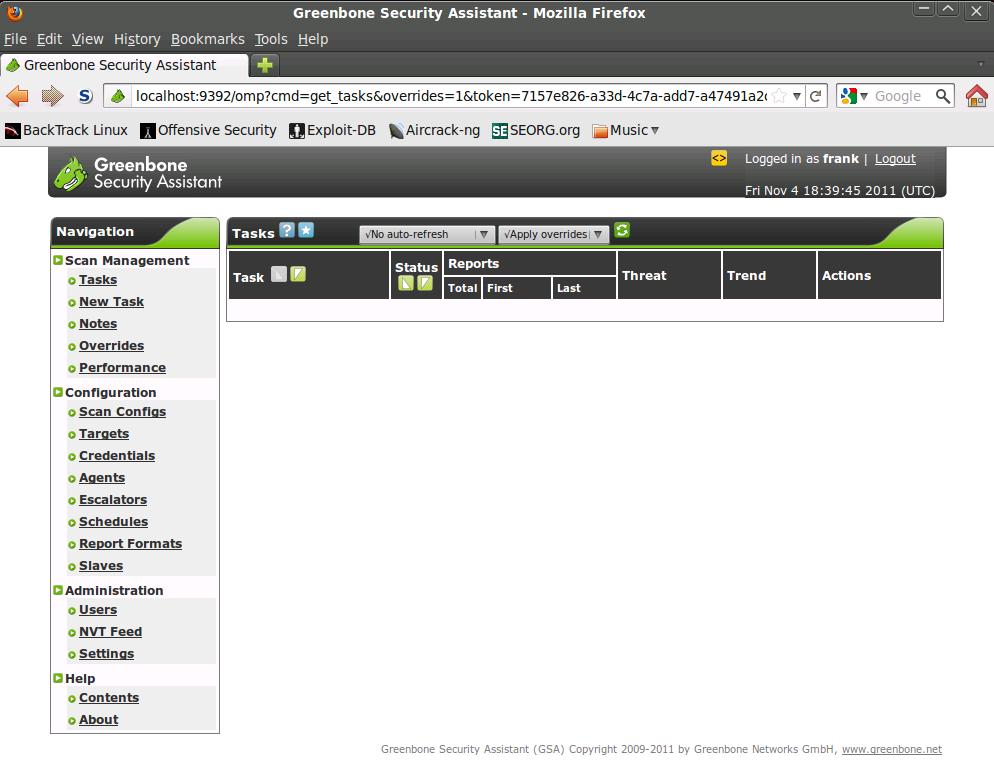 OpenVAS auf Backtrack 5 R1 installieren - Pentestit de
